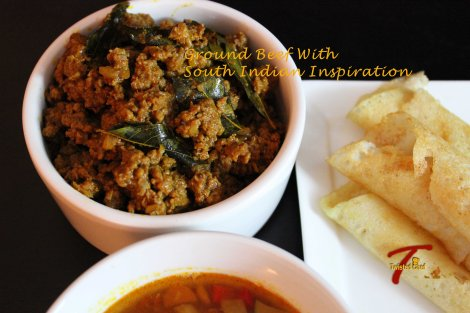 Ground Beef With South Indian Inspiration