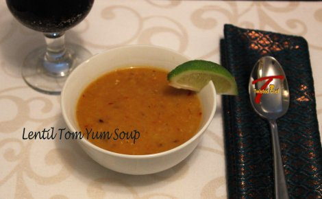 Fusion Recipe with Lentil Tom Yum Soup