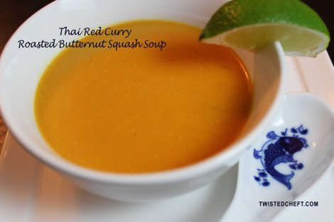 Thai Red Curry Roasted Butternut Squash Soup
