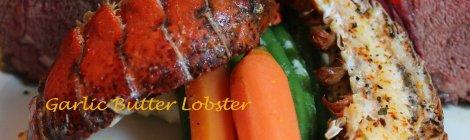 Garlic Butter Baked Lobster - Surf-n-Turf Dinner