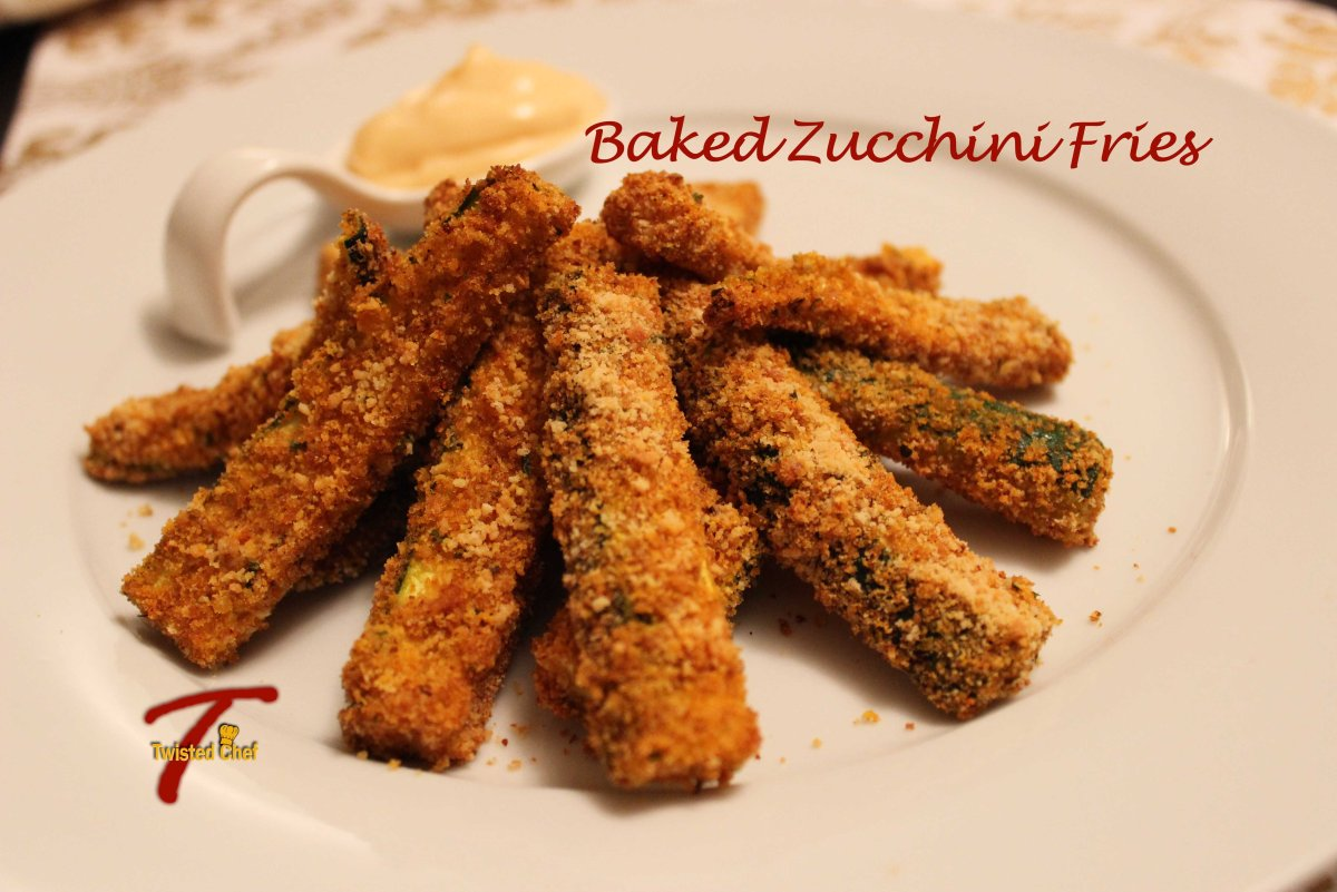 Baked Zucchini Fries | Culinary Adventures of The Twisted Chef T