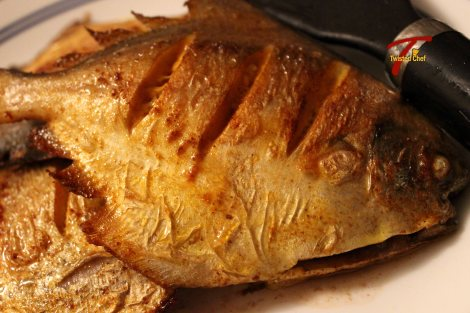Fried Pomfret