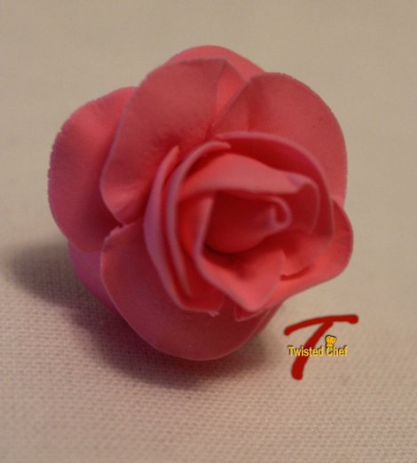 Edible Sugar Art Pink Rose