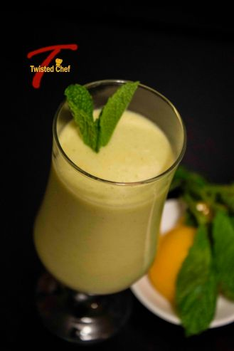 Minty-Peach Milkshake