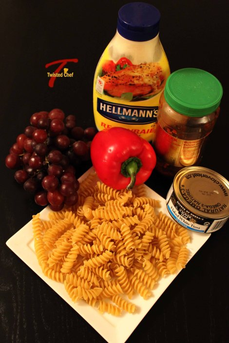 Tuna Grape Pasta Salad - Ingredients