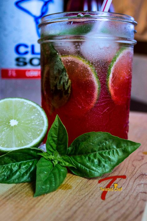 Rose-Basil Limeade Sideview