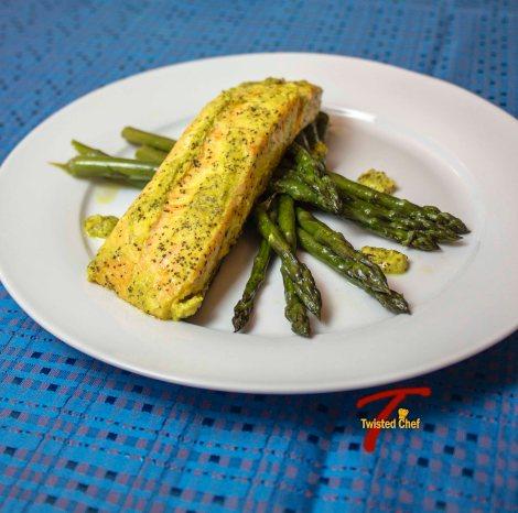 Baked Salmon in Bengali-Style Mustard Sauce