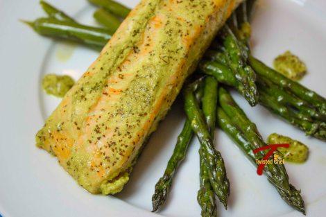 Salmon in Bengali-Style Mustard Sauce - Close-up