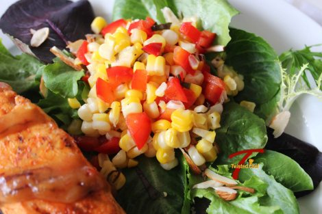 Corn Salsa with Salmon
